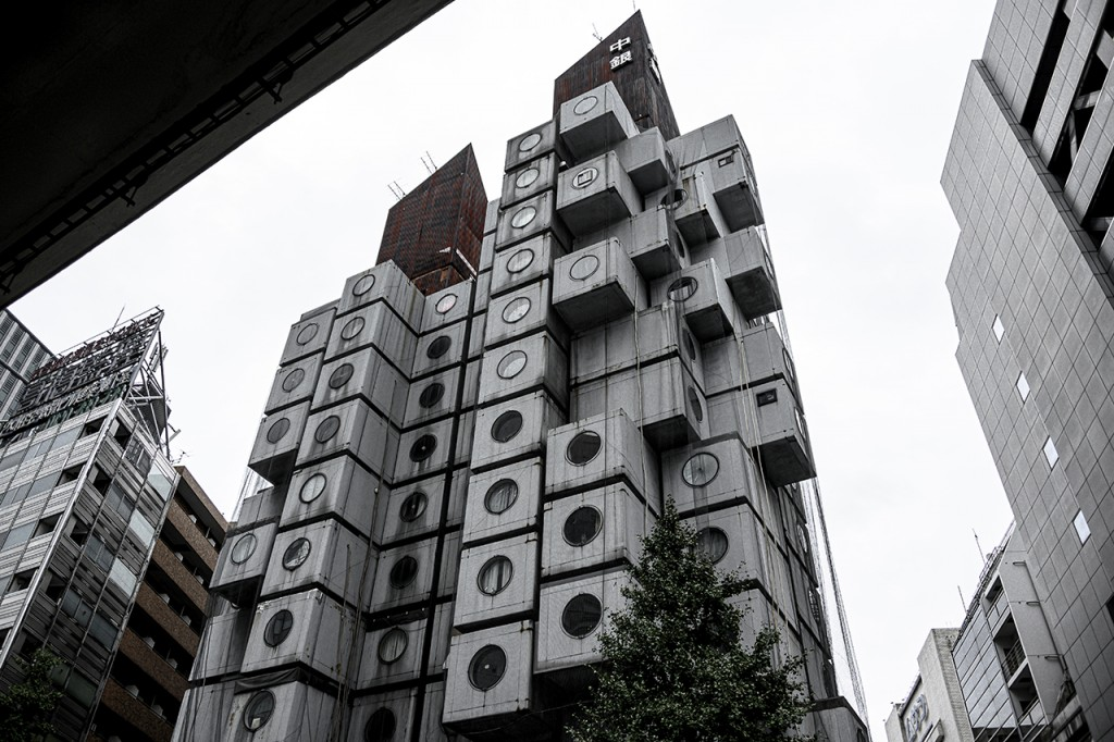 The famous Nakagin capsule house in Ginza, Tokyo