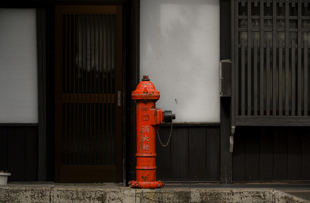 If your house is made of wood, a fire hydrant close by is important; Takayama